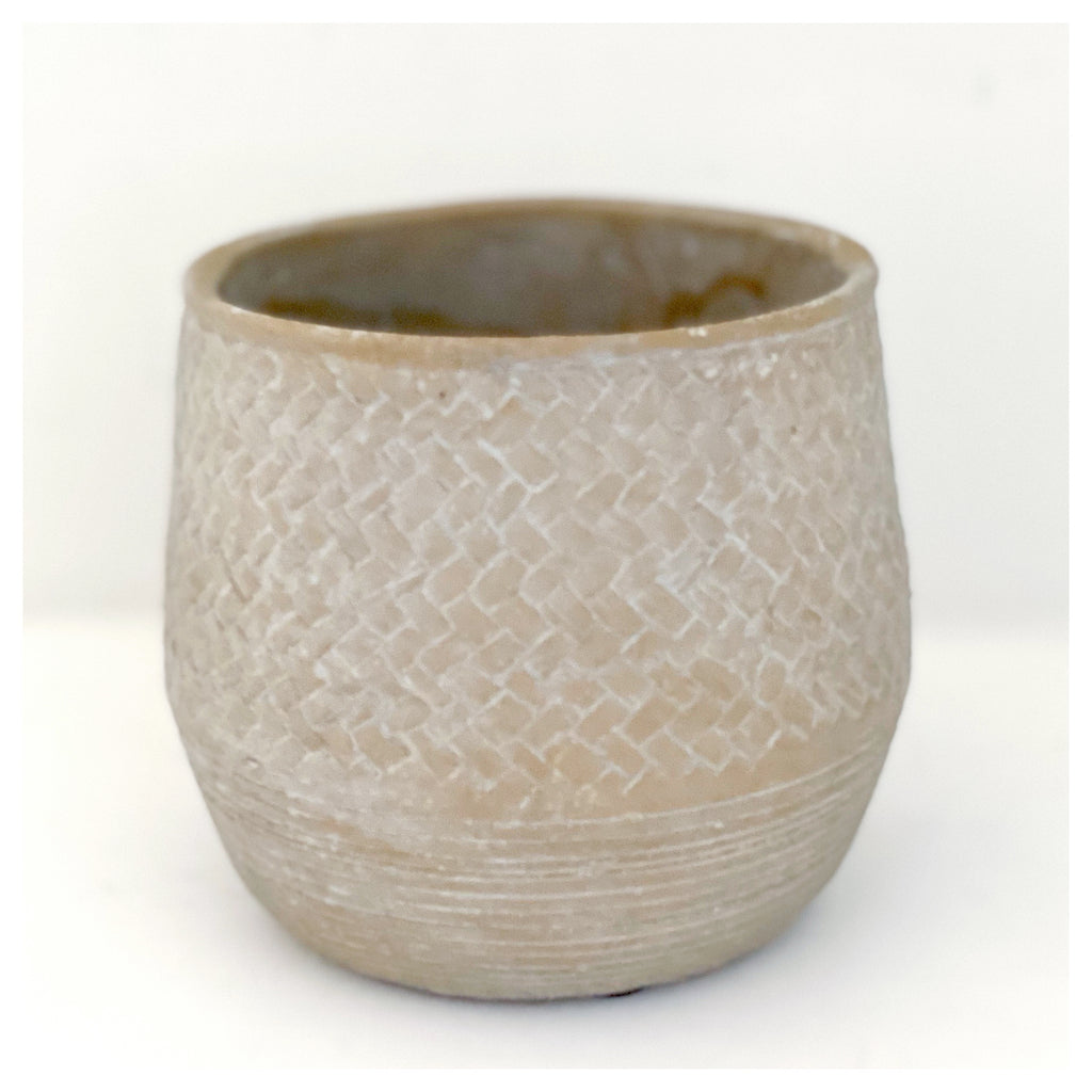 Natural Textured Planter