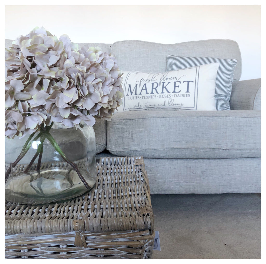 Flower Market Farmhouse Rectangular Cushion