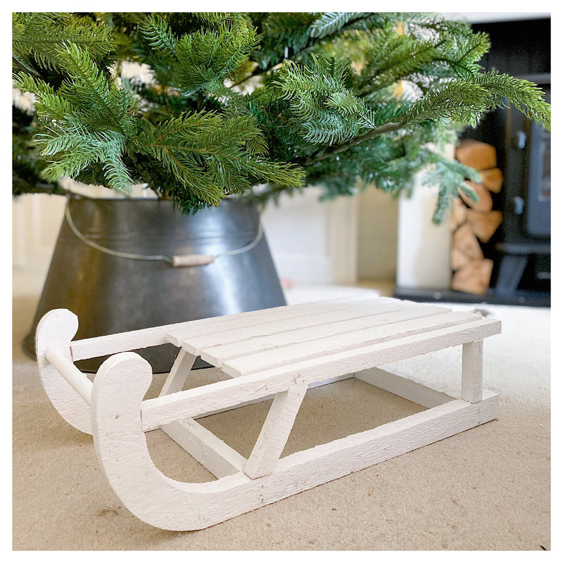 White Wooden Sledge