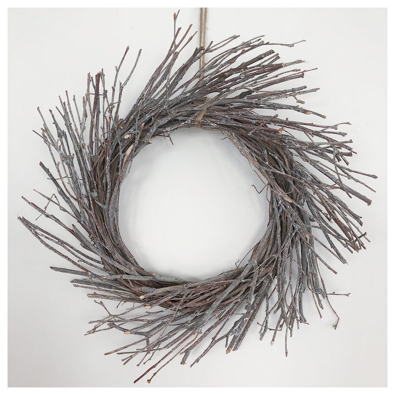 Whitewashed Birch Wreath