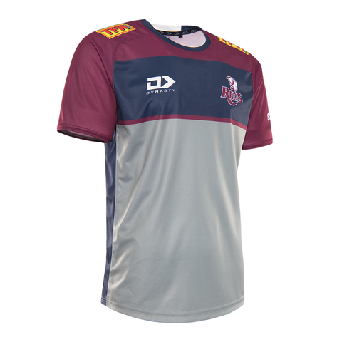 2021 Queensland Reds Mens Warm Up Tee