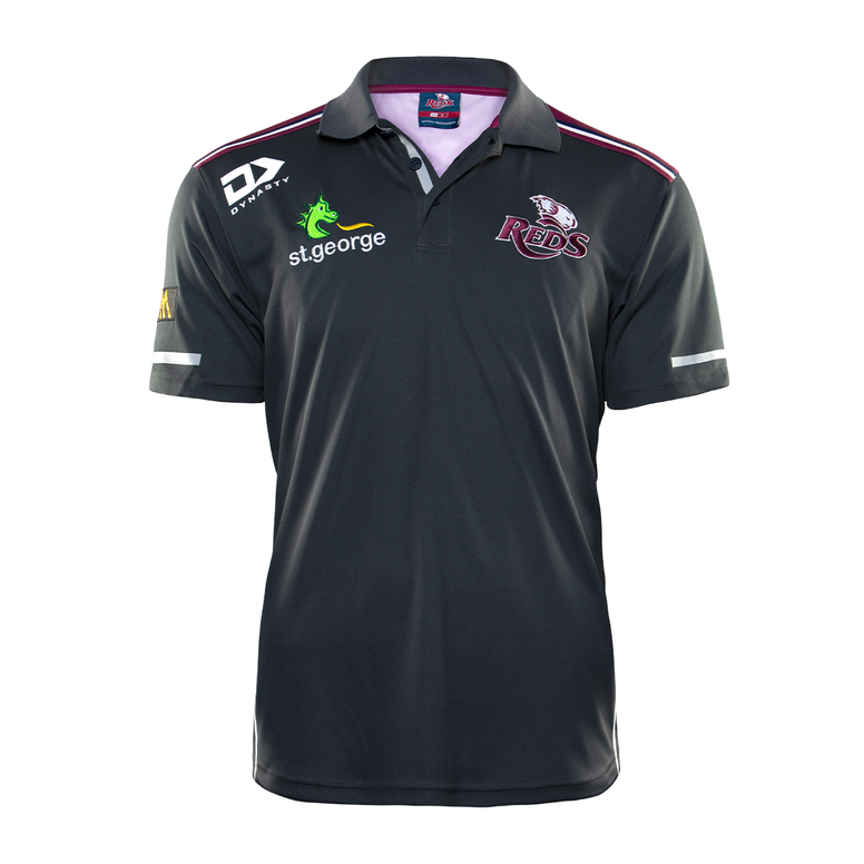 2020 Queensland Reds Mens Media Polo
