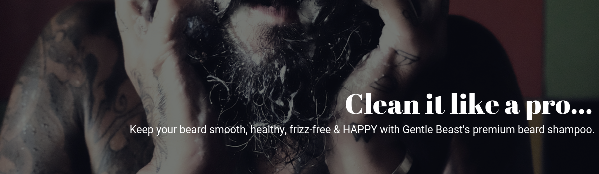 beard shampoo to clean and maintain beard