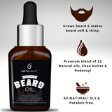 All-in-1 Premium Beard Oil | Grows, Nourishes, Softens Beard