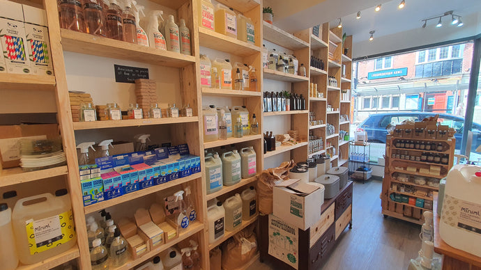 Loughborough's plastic-free, Zero waste shop gets bigger with food refill station | The Cleaning Cabinet