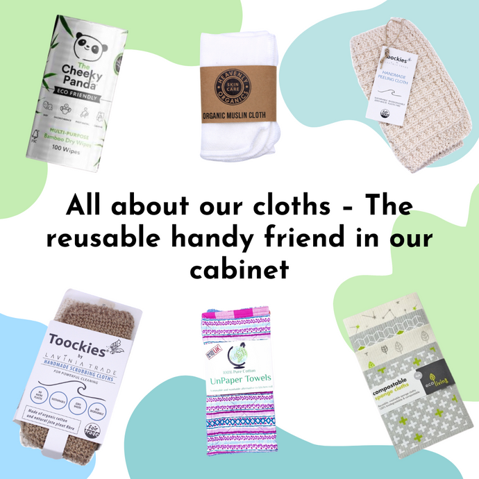 All about our cloths – sustainable & reusable cleaning and body cloths