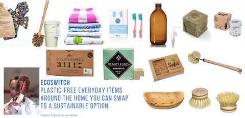 EcoSwitch - Plastic-free items around the home you can swap to a sustainable option The Cleaning Cabinet