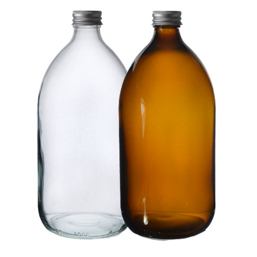 Glass Bottle (1000ml) with Aluminium Cap, the-cleaning-cabinet