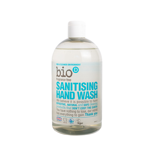 Bio-D Sanitising Hand Soap (Fragrance-free) - 500ml