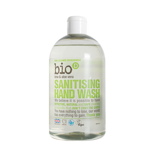 Bio-D Sanitising Hand Wash (Lime & Aloe Vera) - 500ml