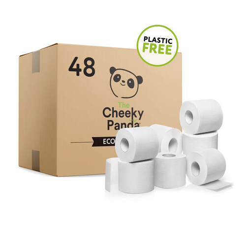 Cheeky Panda 48 Bamboo Toilet Rolls (Plastic-Free), the-cleaning-cabinet
