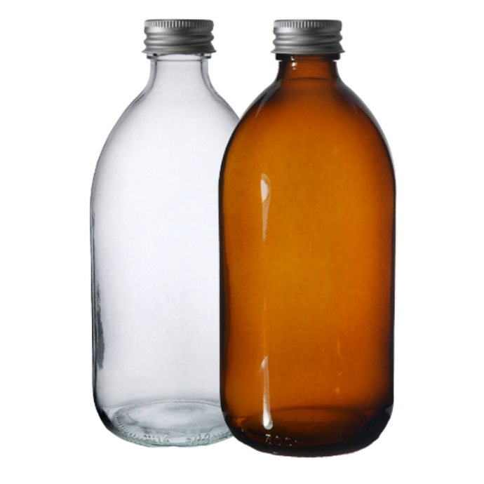 Glass Bottle (500ml) with Aluminium Cap, the-cleaning-cabinet