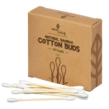 Load image into Gallery viewer, Natural Bamboo Cotton Buds, the-cleaning-cabinet