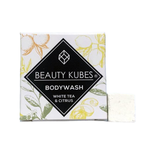 Plastic-Free Body Wash Cubes (White Tea & Citrus)