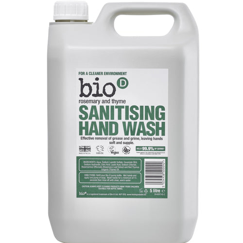Sanitising Hand Wash (Rosemary & Thyme) by Bio-D, the-cleaning-cabinet