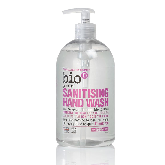 Sanitising Hand Wash (Geranium) by Bio-D, the-cleaning-cabinet