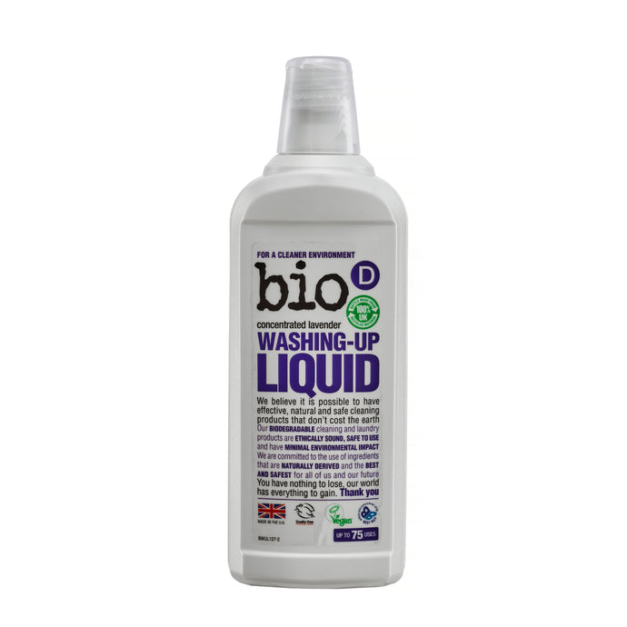 Eco-friendly Washing Up Liquid (Lavender) by Bio-D, the-cleaning-cabinet
