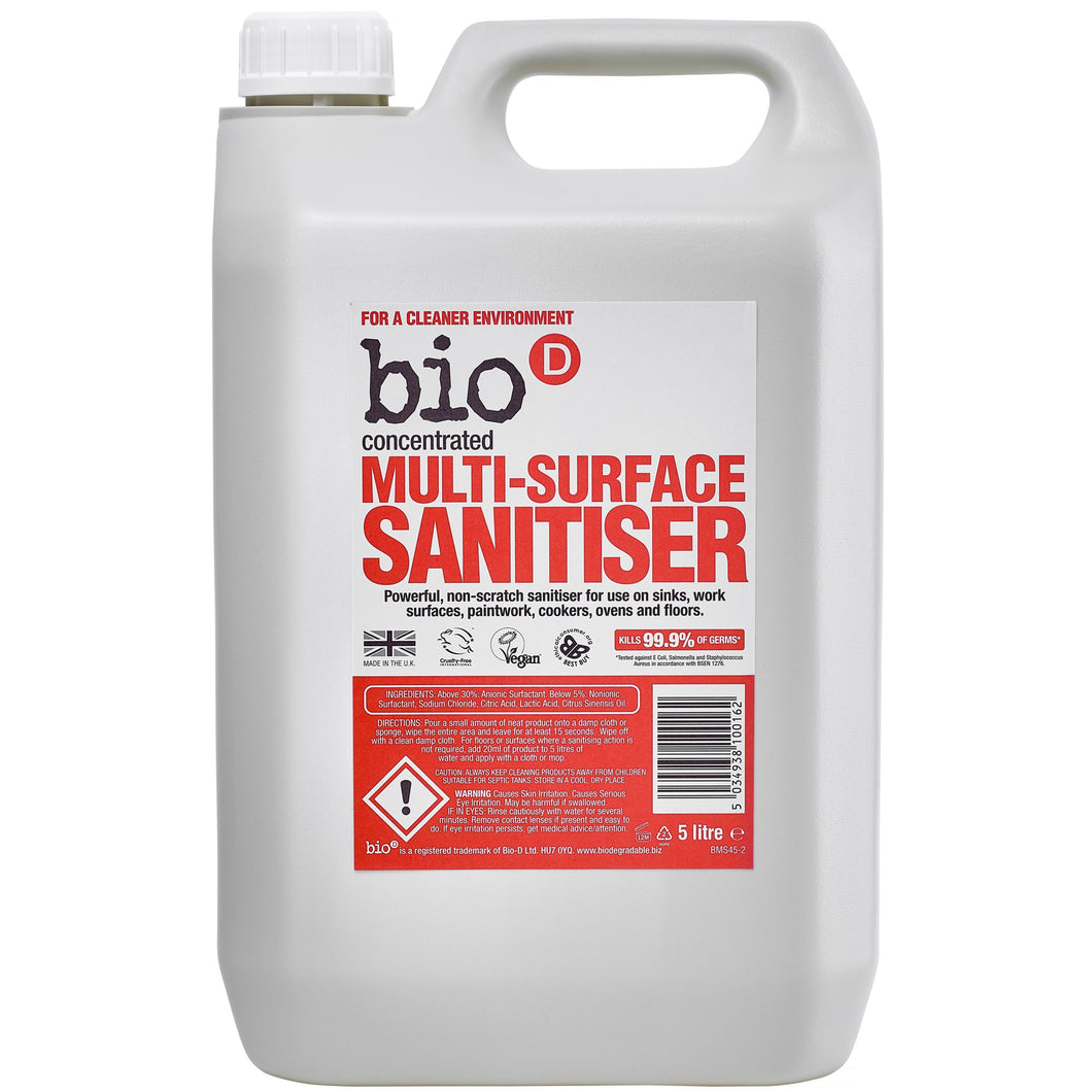 Multi Surface Sanitiser by Bio-D, the-cleaning-cabinet