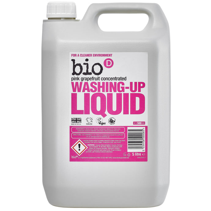Eco-friendly Washing Up Liquid (Grapefruit) by Bio-D, the-cleaning-cabinet