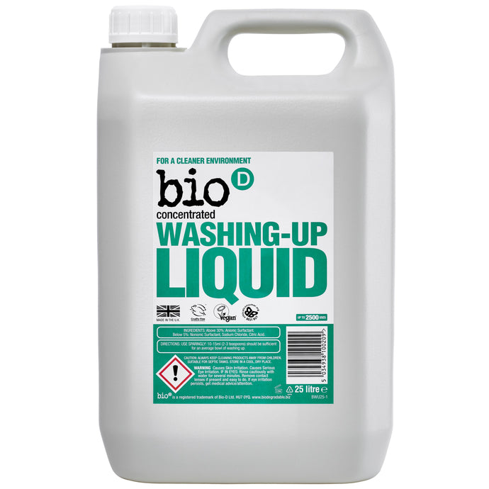 Eco-friendly Washing Up Liquid (Fragrance-Free) by Bio-D, the-cleaning-cabinet