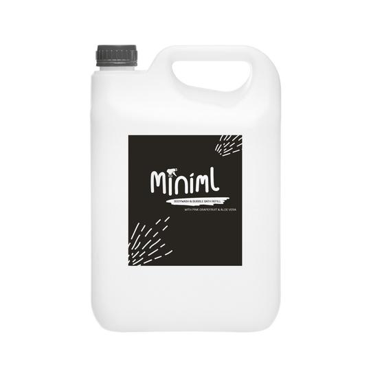 Miniml Eco Body Wash & Bubble Bath (Pink Grapefruit & Aloe Vera) - 5 Litre Bulk Refill