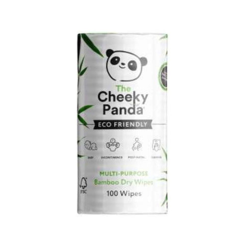 Cheeky Panda Multi Purpose Bamboo Dry Wipes, the-cleaning-cabinet