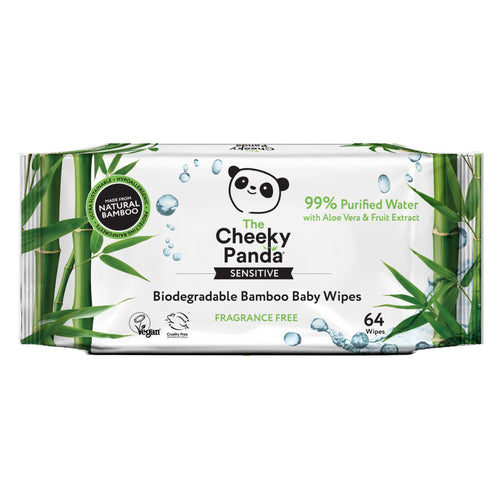 Cheeky Panda Biodegradable Bamboo Baby Wipes, the-cleaning-cabinet