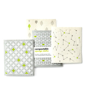 Compostable Sponge Cleaning Cloths (Multi-Packs), the-cleaning-cabinet