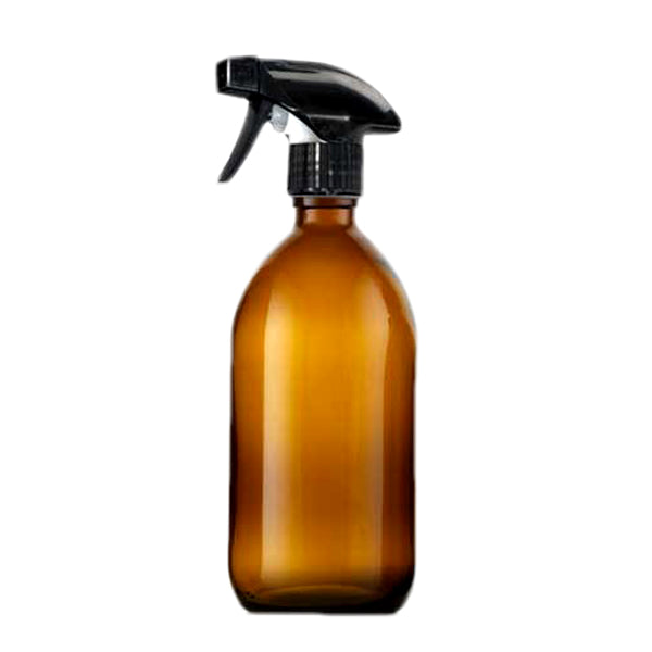Glass Bottle (500ml) with Trigger Spray, the-cleaning-cabinet
