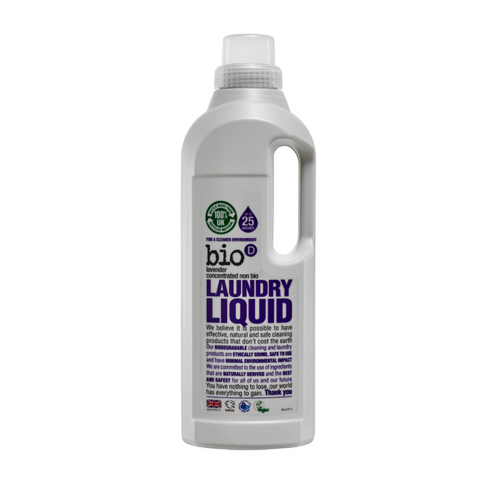 Non-Bio Laundry Liquid (Lavender) by Bio-D, the-cleaning-cabinet