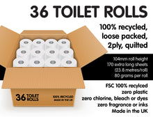Load image into Gallery viewer, Nova Tissues 100% Recycled Toilet Paper (36 Rolls)