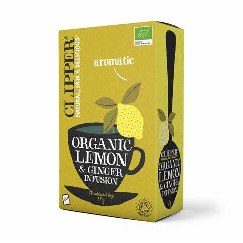 Clipper Tea - Organic Lemon and Ginger Infusion