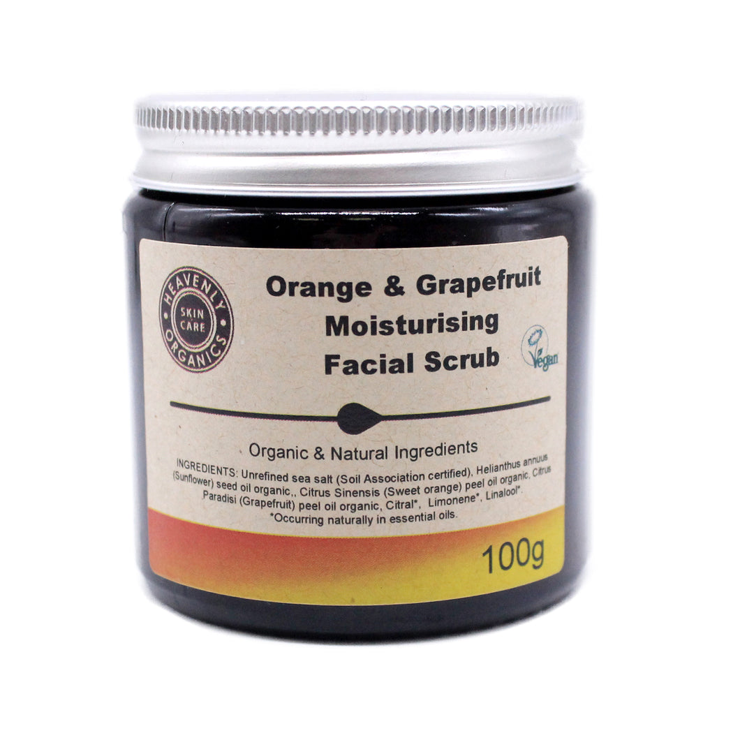 Organic Moisturising Facial Scrub, the-cleaning-cabinet