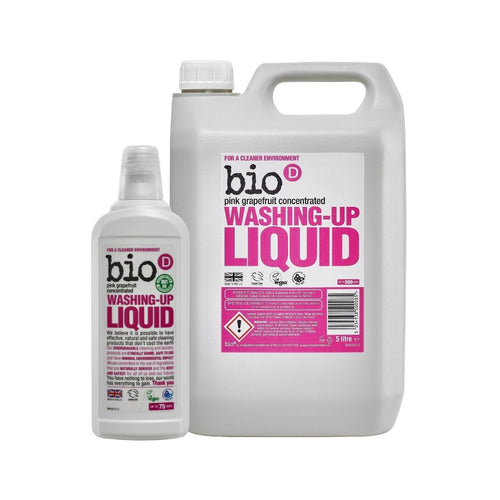 Bio-D Washing Up Liquid (Pink Grapefruit) - Refill Bundle
