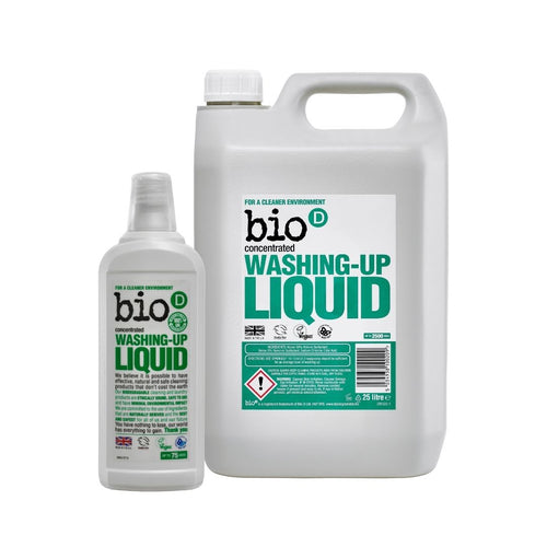 Bio-D Washing Up Liquid (Fragrance-Free) - Refill Bundle