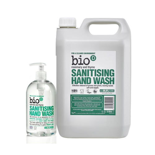 Bio-D Sanitising Hand Wash (Rosemary & Thyme) - Refill  Bundle