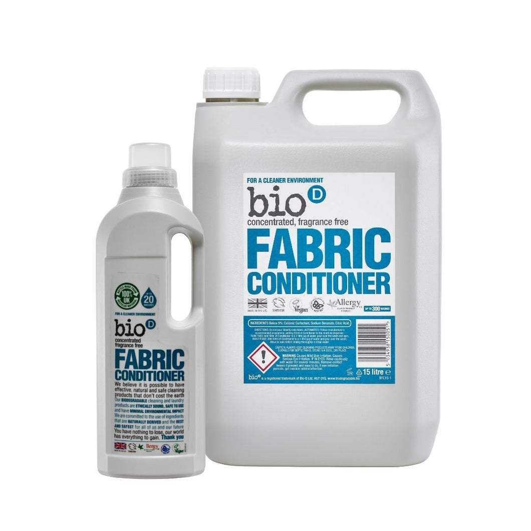 Bio-D Fabric Conditioner (Fragrance-free) - Refill Bundle