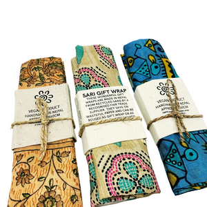 Reusable Fabric Gift Wrap - Reclaimed and Fair Trade
