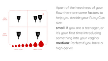 Load image into Gallery viewer, Ruby Cup Menstrual Cup