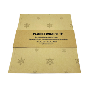 Recycled Kraft Wrapping Paper - Snowflake