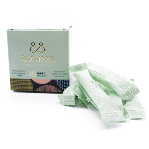 Paper Wrapped Organic Cotton Tampons® by &Sisters, the-cleaning-cabinet