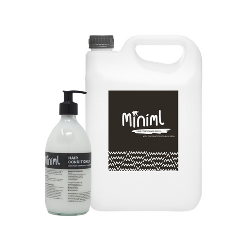 Miniml Pink Grapefruit & Aloe Vera Hair Conditioner (Natural & Vegan) - Refill Bundle
