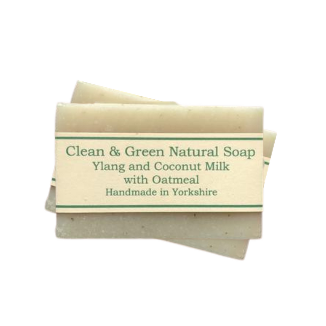Clean & Green Ylang & Coconut Milk with Oatmeal Soap | Sensitive Skin