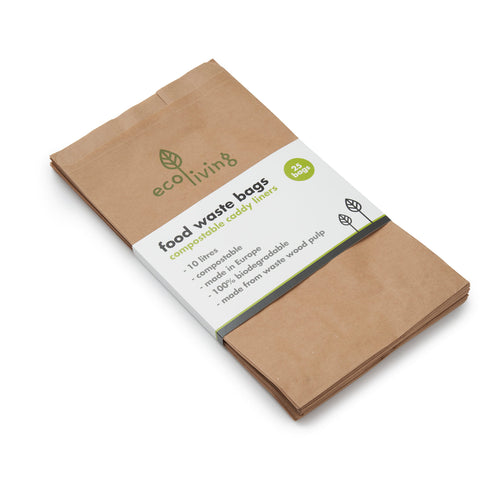 Plastic Free Compostable Food Waste Paper Bags 10L