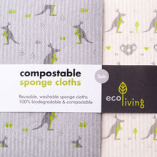 Load image into Gallery viewer, Compostable Sponge Cleaning Cloths (Multi-Packs), the-cleaning-cabinet