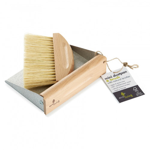Mini Dustpan and Brush Set (100% FSC)