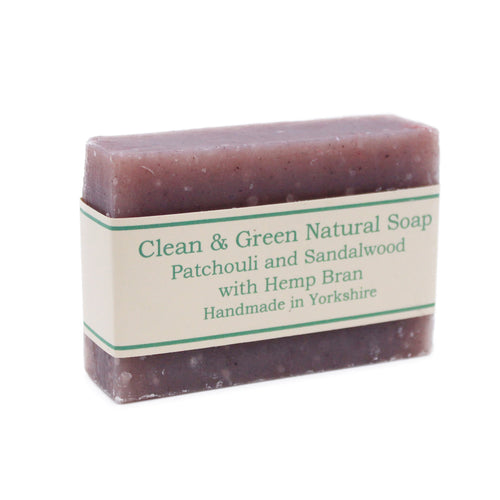 Patchouli and Sandalwood with Hemp Bran Soap Bar