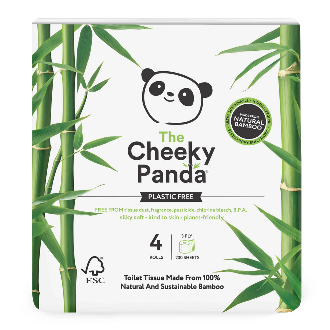 Cheeky Panda Bamboo Toilet Rolls (4-Pack), the-cleaning-cabinet