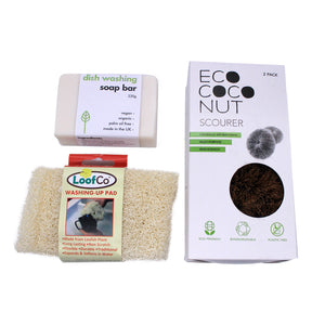 Plastic-free Dishwashing Kit