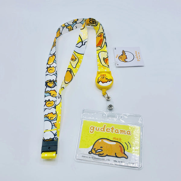Gudetama Lanyard w/ Retractable Card Holder